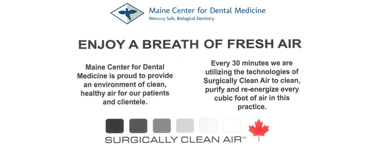 Maine Center for Dental Medicine - Clean Air Poster