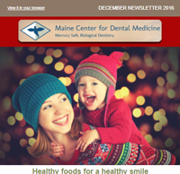 Dr. Imam Mohammed , Maine Center for Dental Medicine Newsleetr For 2016 December