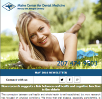 Dr. Imam Mohammed , Maine Center for Dental Medicine Newsleetr For 2016 May