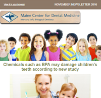 Dr. Imam Mohammed , Maine Center for Dental Medicine Newsleetr For 2016 November