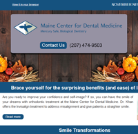 Dr. Imam Mohammed , Maine Center for Dental Medicine Newsleetr For 2017 November